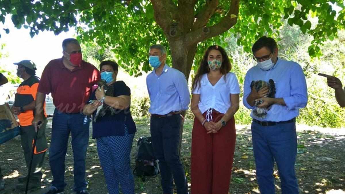 Bruc, Odiel y Bullent, el día que llegaron a la Marjal de Pego Oliva  | LEVANTE-EMV