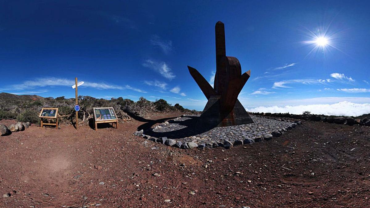 Mirador astronómico en La Palma.