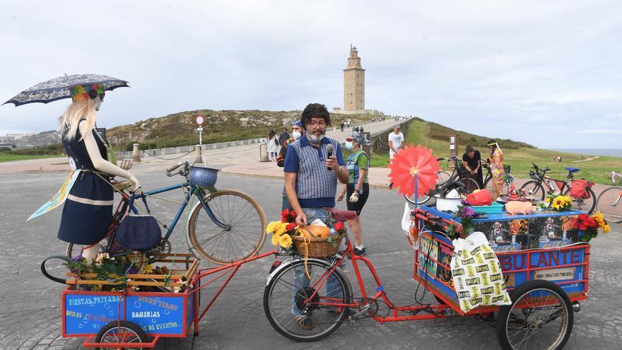 Bicis de otra época en la Torre para una movilidad segura y actual