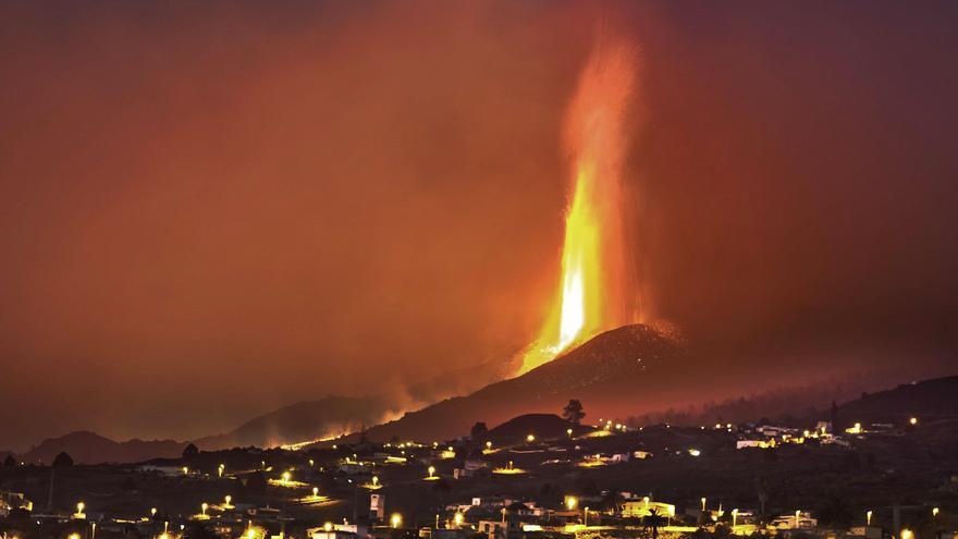 El dinosaurio del volcán todavía estaba en La Palma