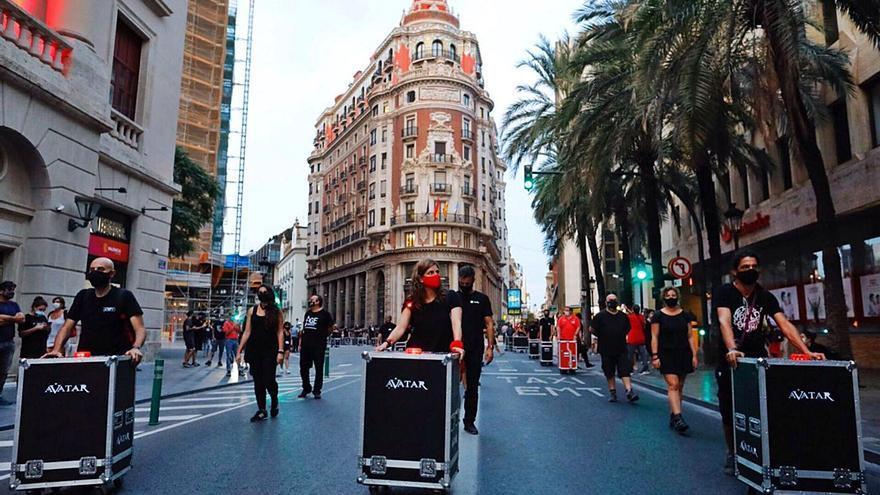 La manifestación de «Alerta roja» el pasado mes de septiembre en València.   M.A.MONTESINOS