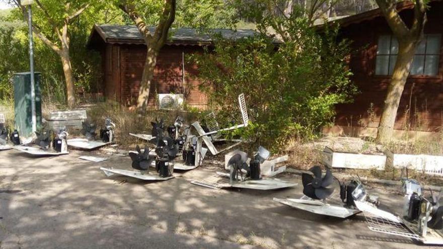 Detenidos por robos y daños en el complejo turístico de Gaibiel