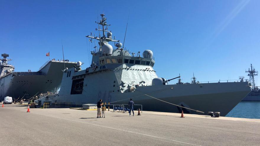 El buque de la Armada que escoltará al Open Arms tiene base en Cartagena