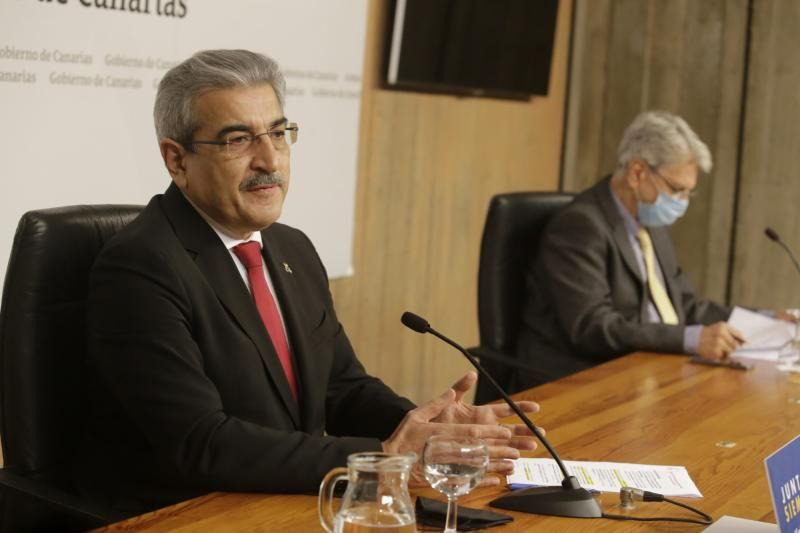 Comparecencia de Julio Pérez y Román Rodríguez en Presidencia de Gobierno