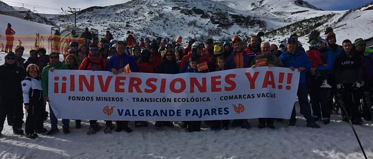 Una de las protestas que encabezó la plataforma de Pajares el año pasado.