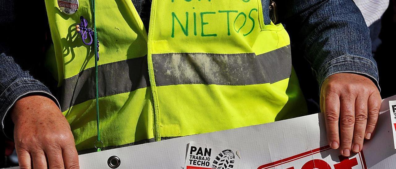 Protesta de pensionistas en Madrid en octubre de 2019.