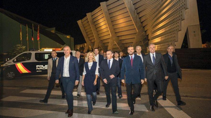Mitin de Pablo Casado en Zaragoza el 6 de noviembre de 2019