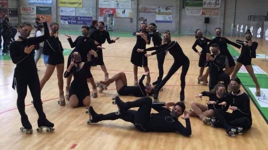 Así fue la coreografía que aupó al Carpa vigués a la sexta posición del Campeonato de España de Patinaje