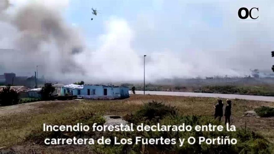 Un incendio en Visma, el segundo en ocho días, calcina 16.000 metros cuadrados