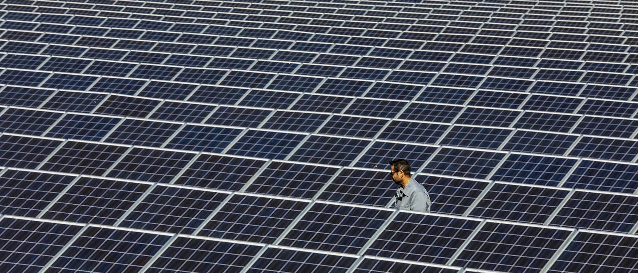 Planta solar en Crevillent, en imagen de archivo