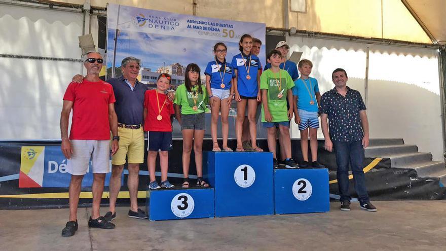 El Kayak de Mar del Náutico Campello se hace con 7 medallas en la IV prueba autonómica de Dénia