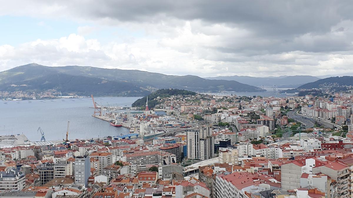 Vista general de Vigo.