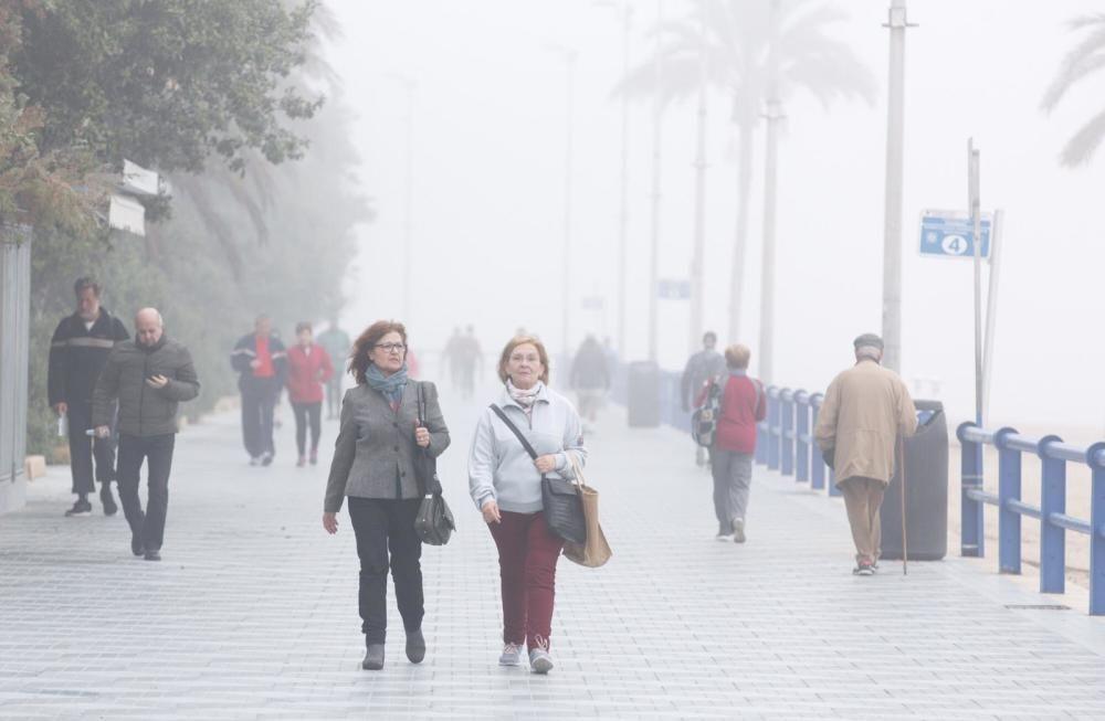 La niebla desde la Explanada