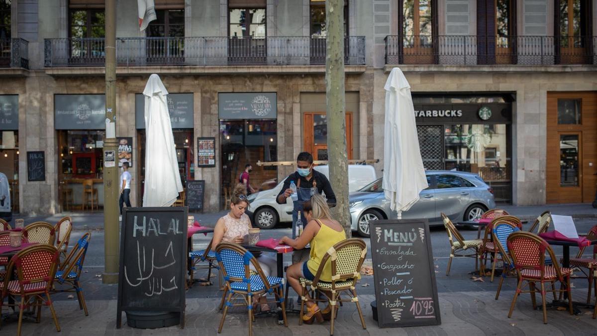 Restaurant de la Rambla de Barcelona.