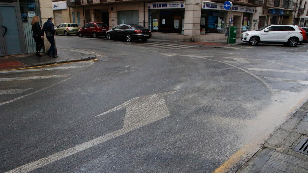Calle Cortinas de San Miguel.