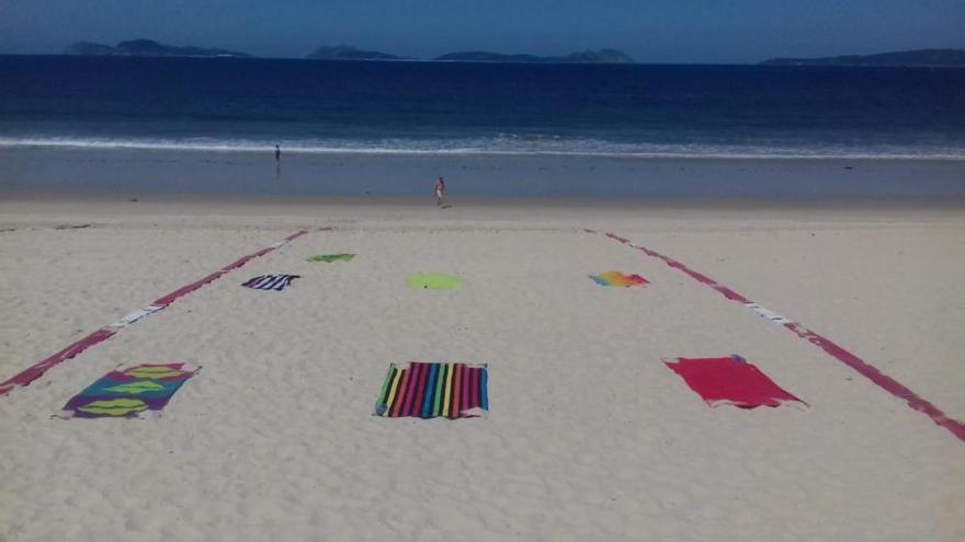 Así serán las playas de Vigo en la era Covid-19