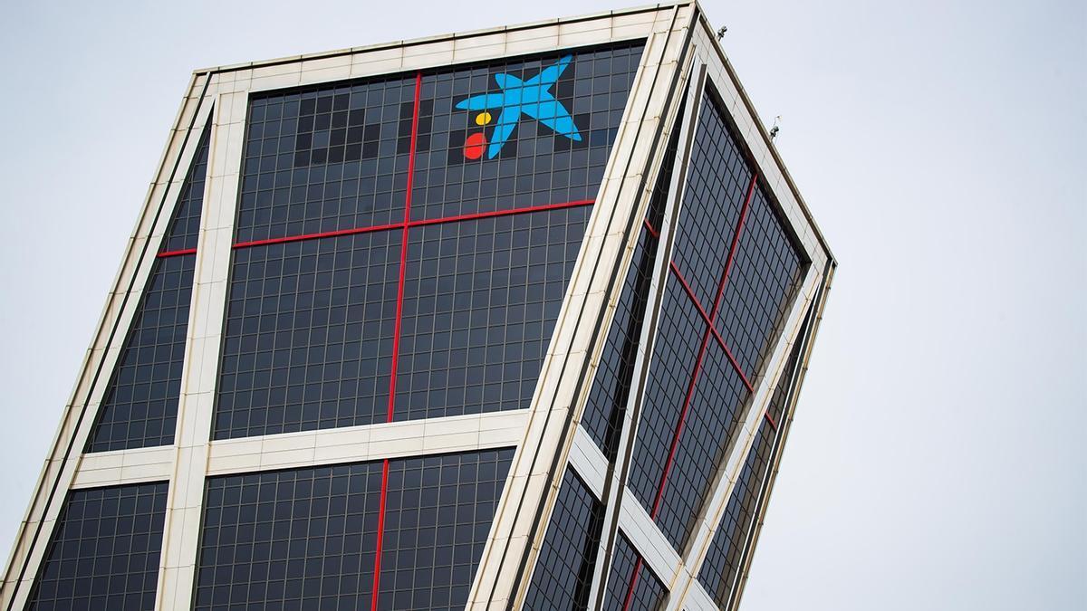 Sede corporativa de CaixaBank en Madrid.