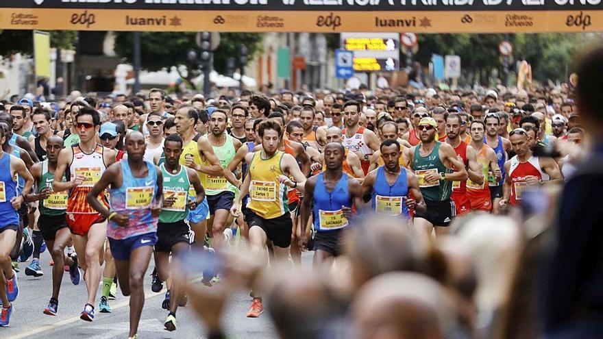 Calles cortadas en Valencia por el Medio Maratón Trinidad Alfonso