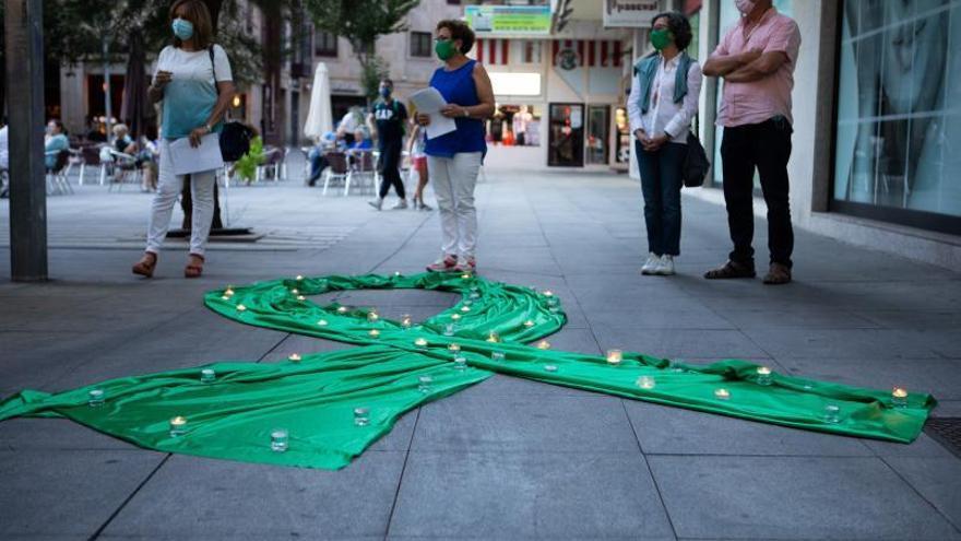Velas por la prevención del suicidio en Zamora