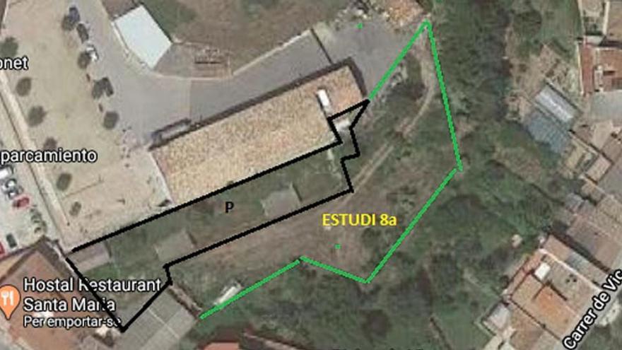 Un estudi xifra en més de 550.000 euros fer una zona verda gran al nucli urbà de Santa Maria d'Oló