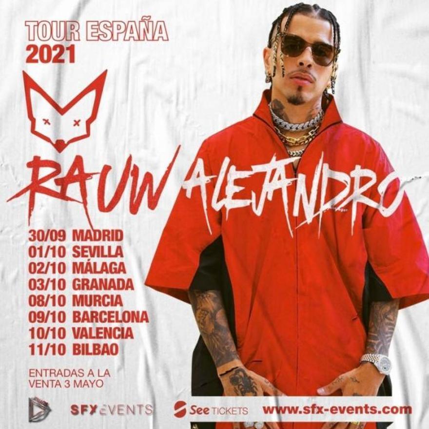 Cartel del tour del cantante por España