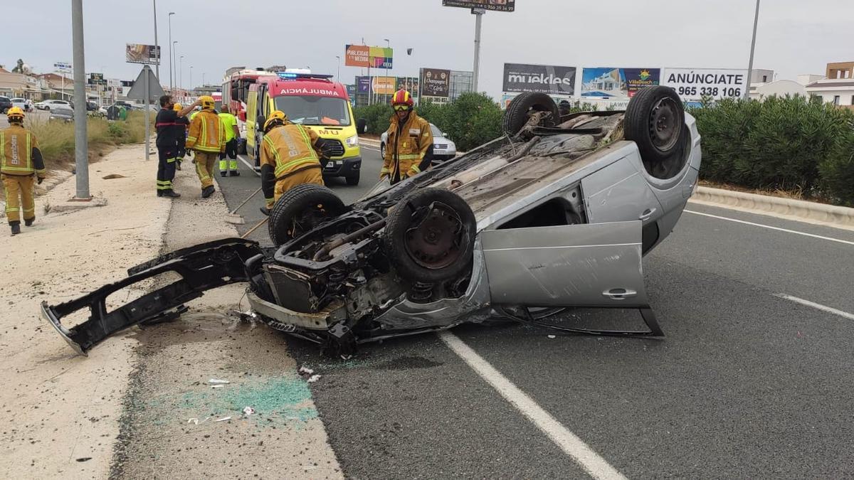 Nuevo accidente grave en la N-332 en Orihuela