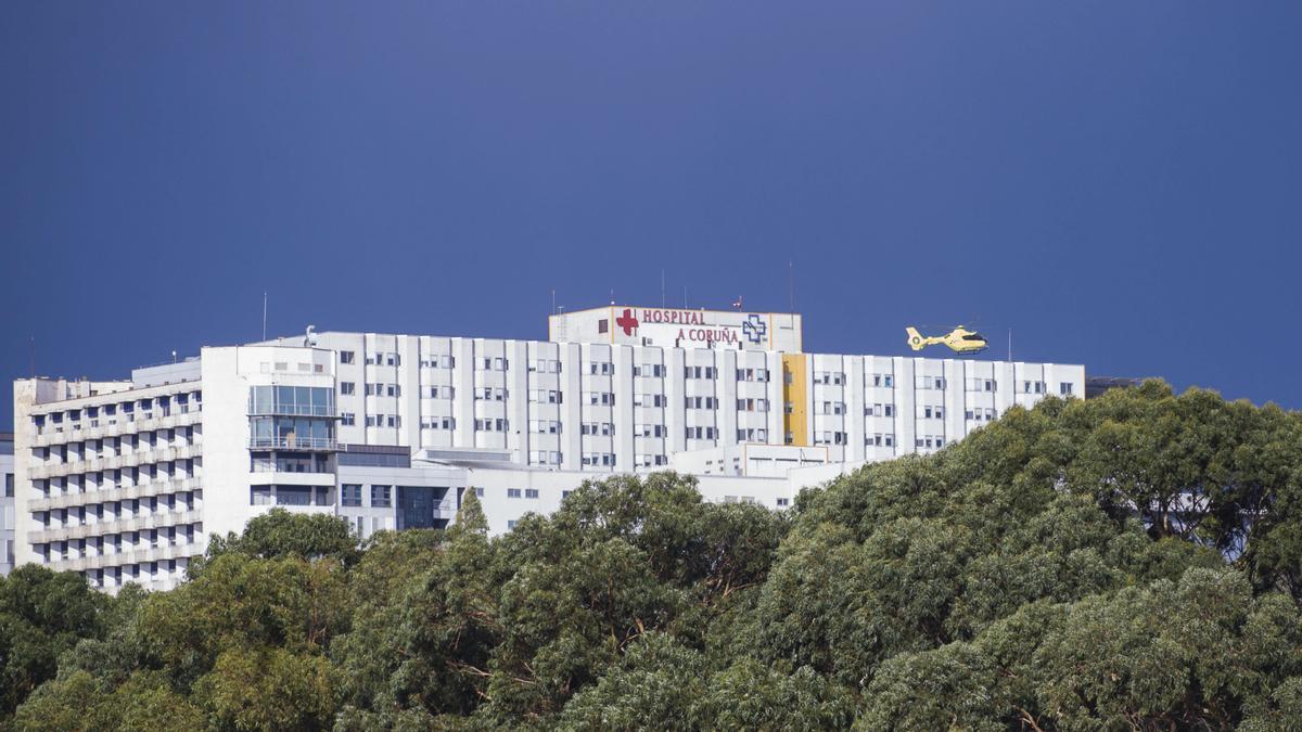 Vista del complejo hospitalario coruñés (CHUAC).