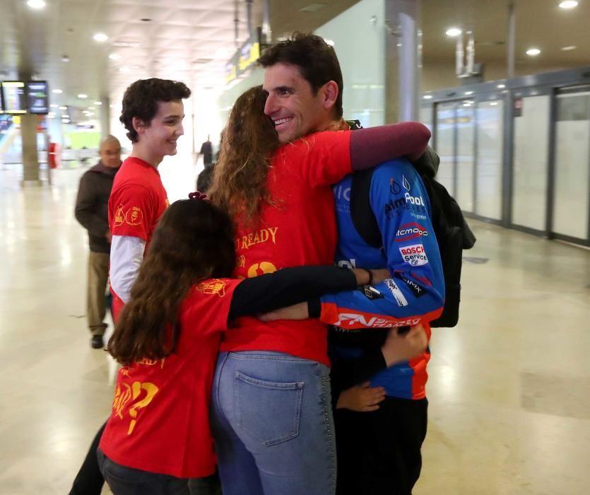 Llegada de Ignacio Sanchis tras su segundo Dakar
