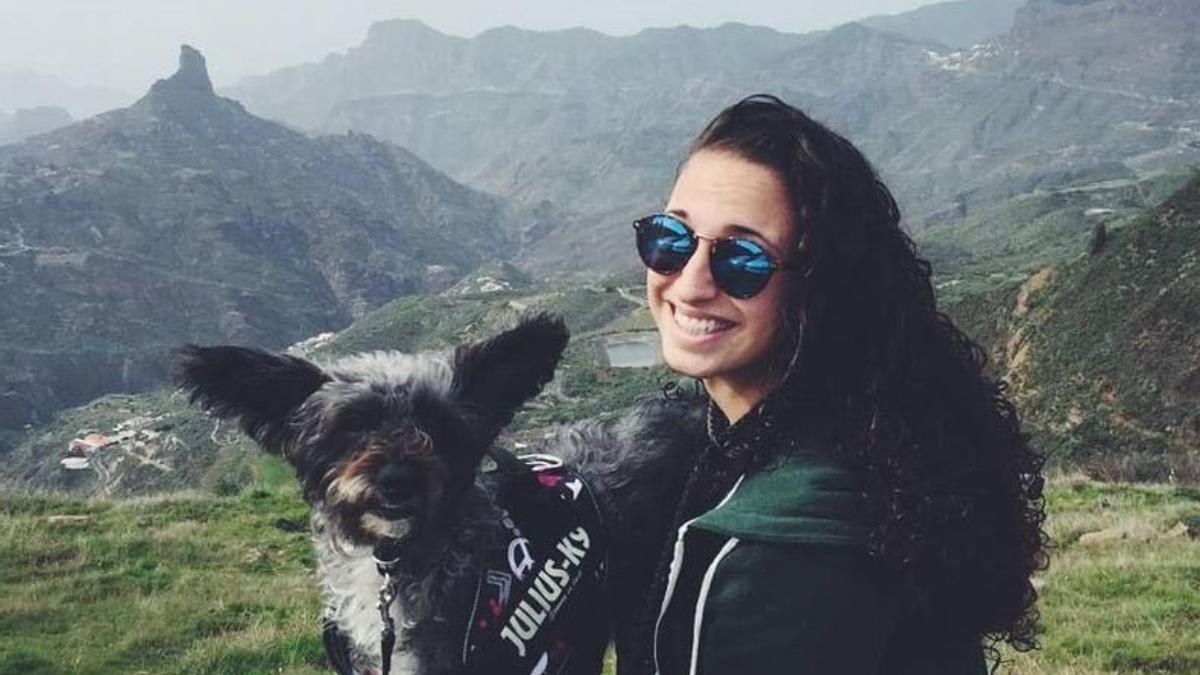 Alba, en una de las imágenes publicadas por sus compañeros en el homenaje realizado a la estudiante fallecida.
