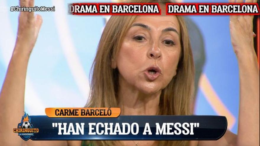 """Carme Barceló estalla por la salida de Messi del Barça: """"Le han echado"""""""