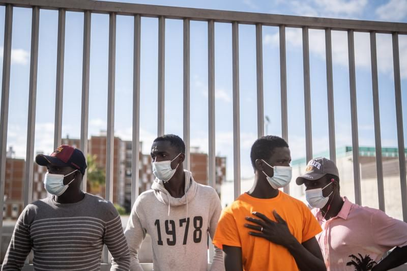 Concentración de inmigrantes en Santa Cruz de Tenerife