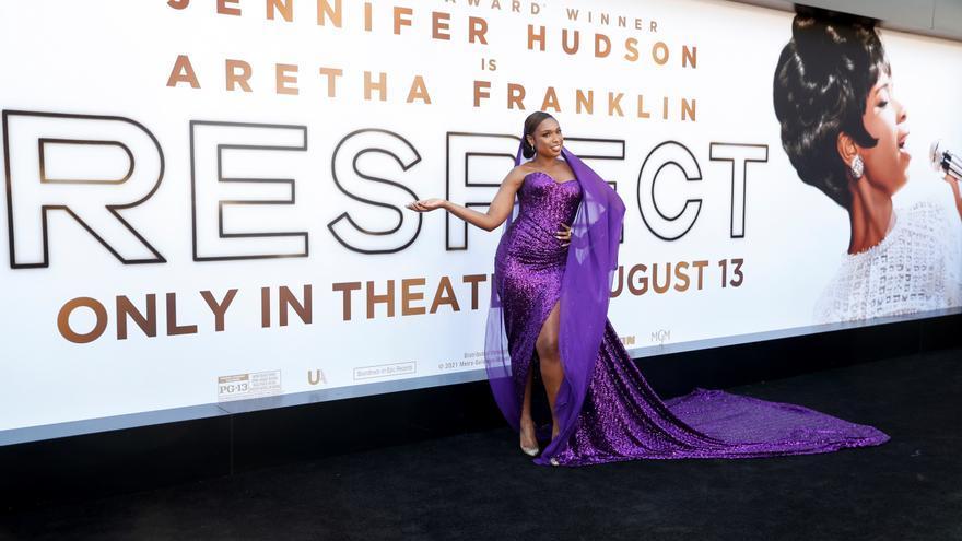 Jennifer Hudson deslumbra en el estreno de la película sobre Aretha Franklin