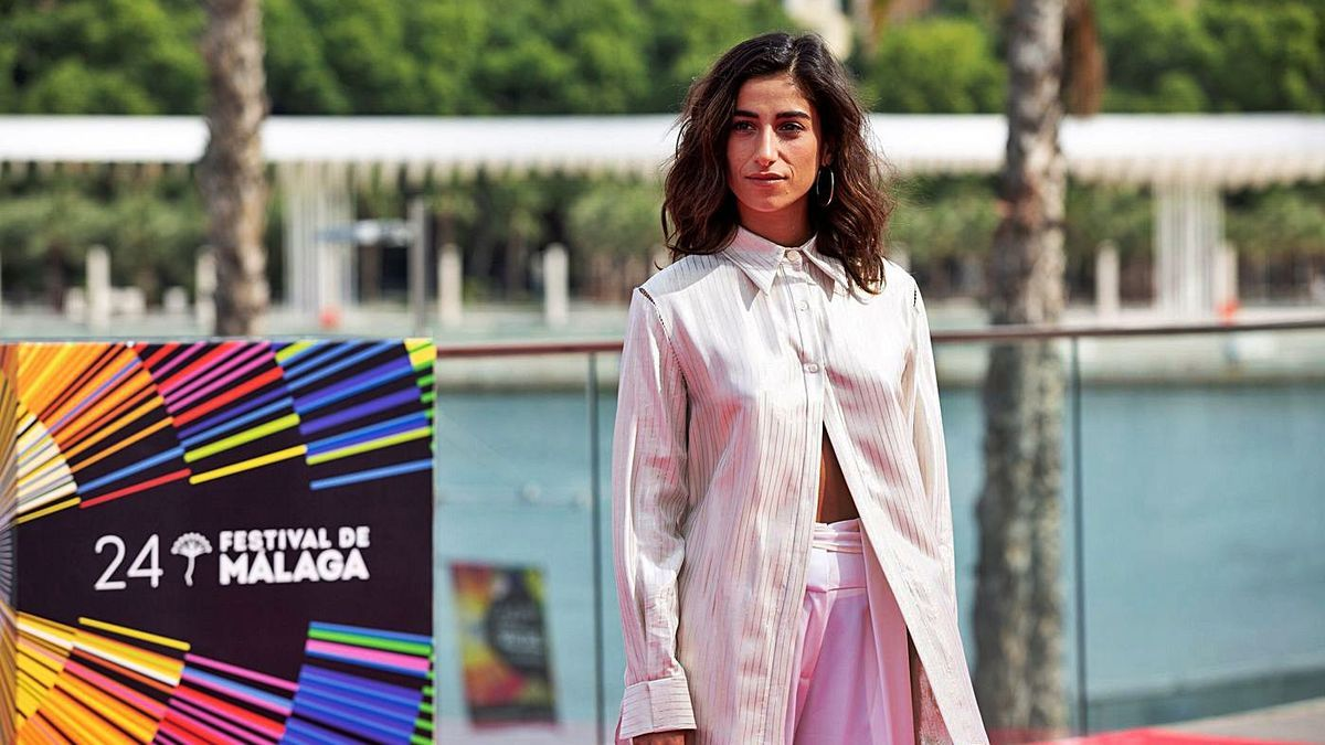 La actriz Carolina Yuste, ayer, en el Festival de Cine de Málaga.