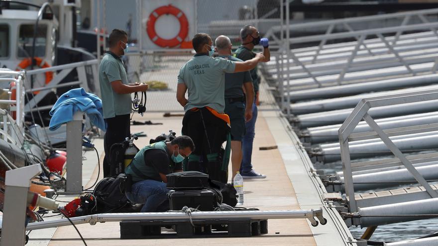Rescate de la submarinista fallecida del GAES