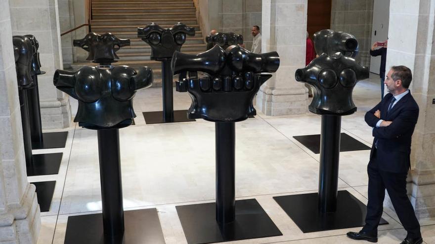 Los guerreros almogávares de Berrocal toman el Museo de la Aduana