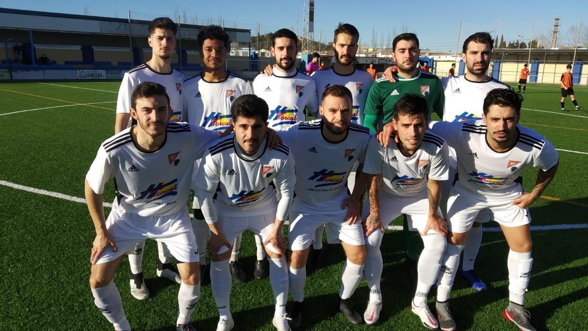 Formación inicial del UD Torcal durante un partido de esta temporada.