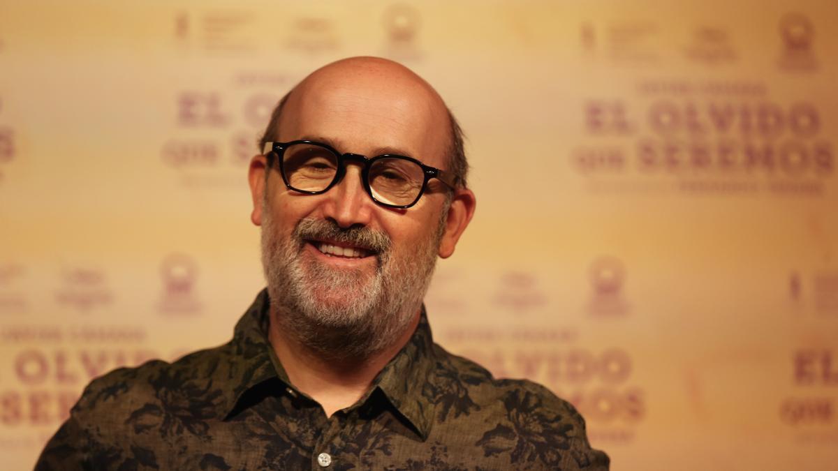 El actor Javier Cámara durante la presentación de la película 'El olvido que seremos'.