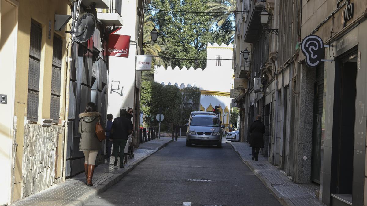 Obras en las calles del centro de Elche. Antonio Amorós