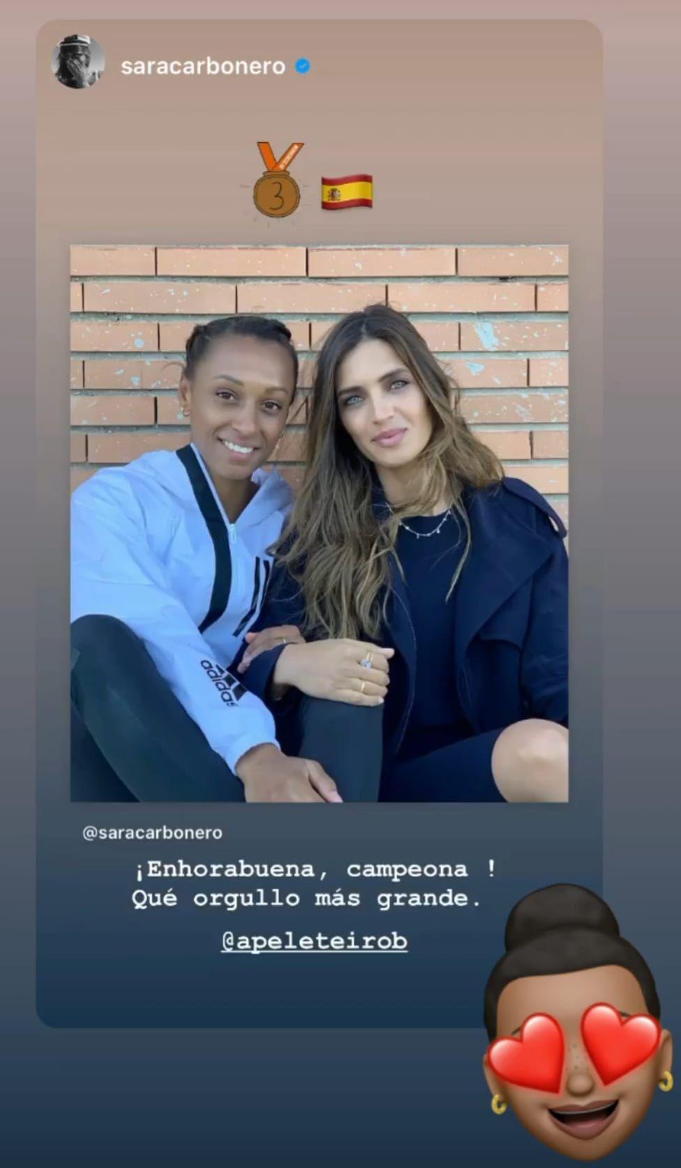 Historia de Instagram de Sara Carbonero.
