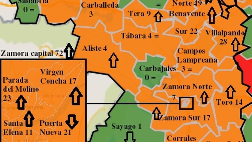 Mapa COVID de Zamora: Villalpando y Benavente disparan los casos