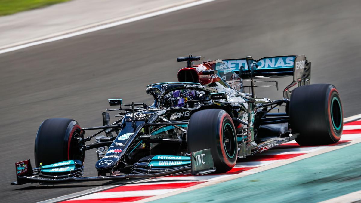 Lewis Hamilton, en el circuito del GP de Hungría.