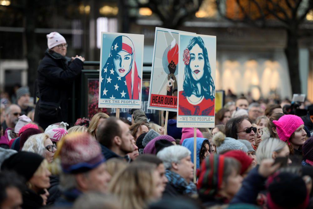 Protestas contra Donald Trump en Suecia