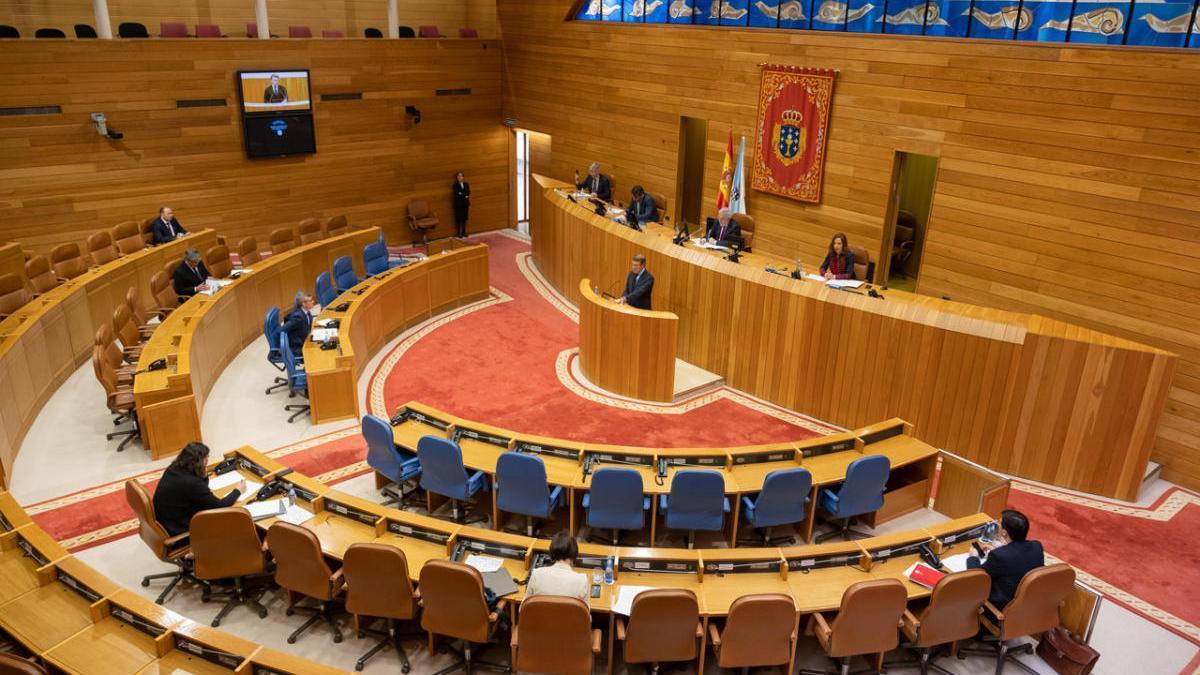 Imagen del hemiciclo del Parlamento de Galicia. / Xoán Álvarez