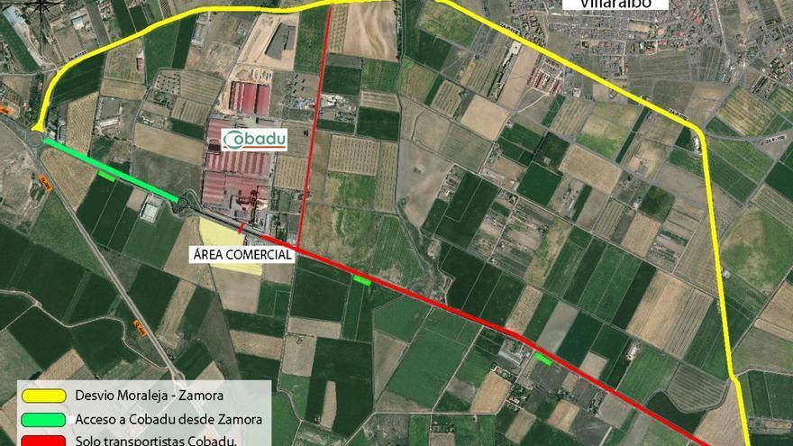 La carretera Zamora-Moraleja, cortada al tráfico desde este lunes durante un mes