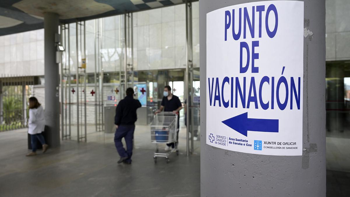 Punto de vacunación en A Coruña.