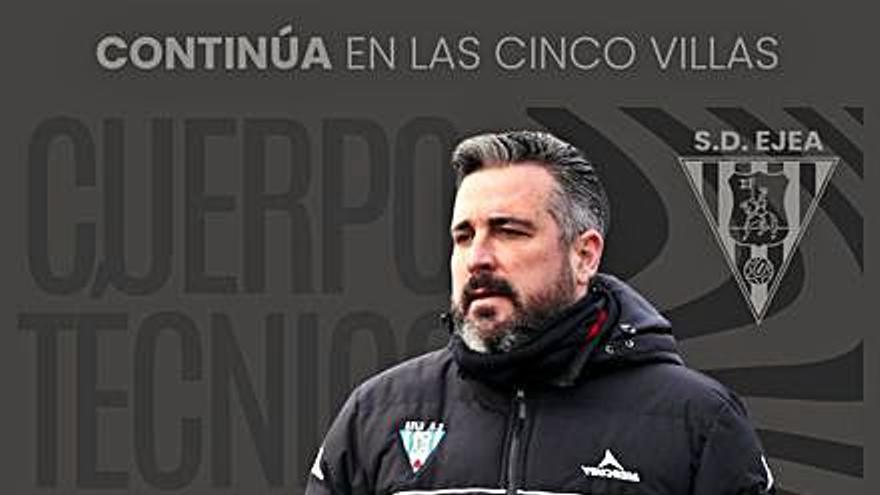 Néstor Pérez vuelve  a dirigir a la SD Ejea  en la nueva 2ª RFEF