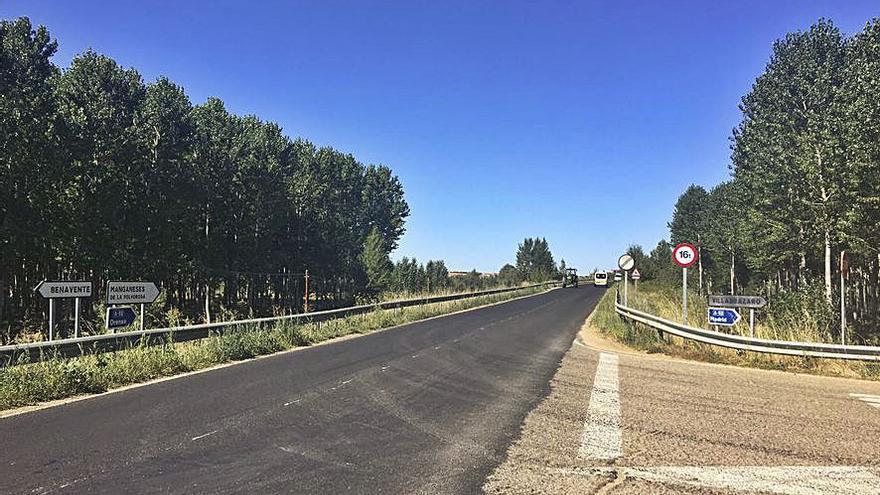 Nueva cara para el tramo de carretera entre Benavente y Morales de Rey