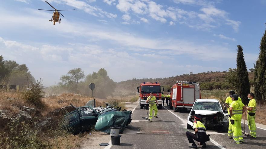 Quatre ferits, un d'ells greu, en un accident a l'N-260 a Vilajuïga