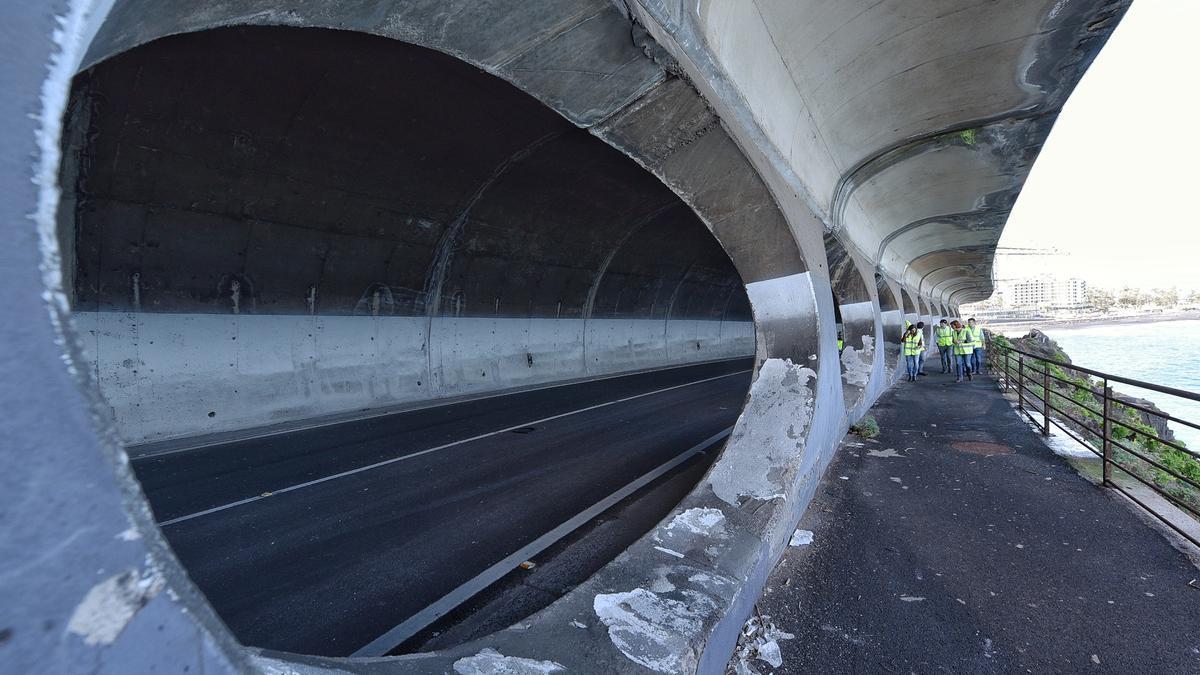 Túnel de Martiánez, en la carretera del Este, en Puerto de la Cruz