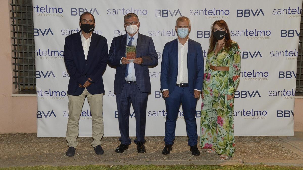 La familia Román Ocaña, premiados por Málaga.